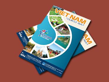 Tờ gấp bản đồ du lịch Việt Nam